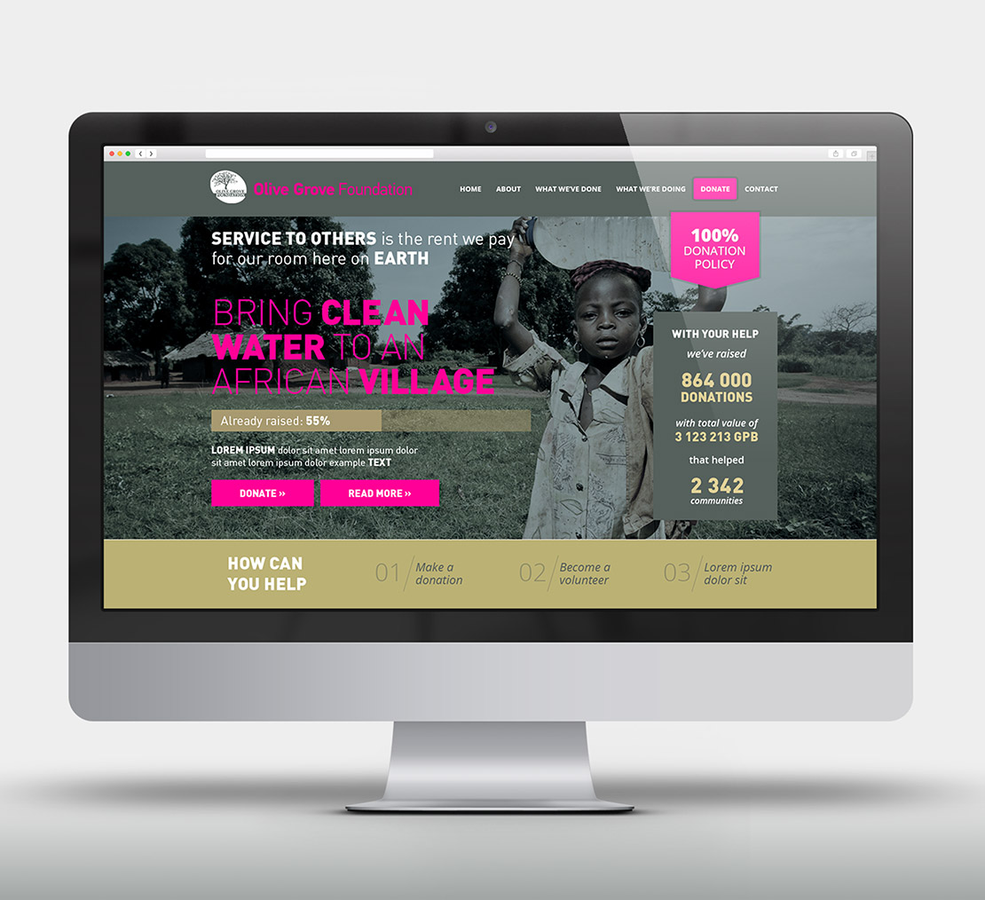 Olive Grove Foundation - web design